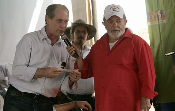 Resultado de imagem para Ciro Gomes e Lula