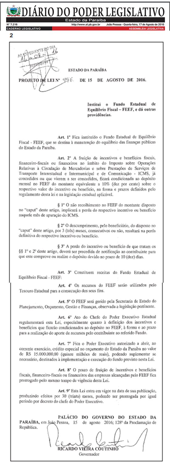 DPL 17ago2016 lei de equilibrio fiscal