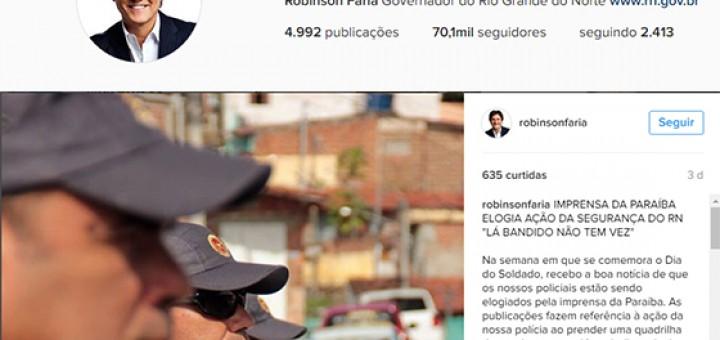 Robinson Farias repercute Blog em Instagram ago2016