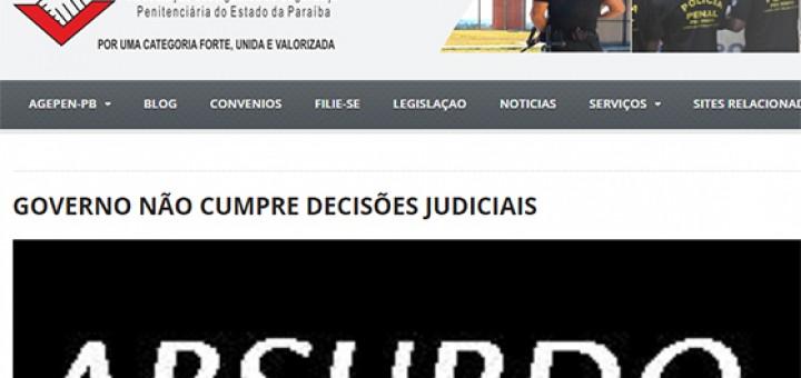 Agentes Penitenciários Gov RC descumpre Justiça