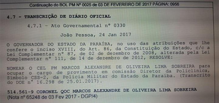 Governador nomeia presidente da Caixa Beneficente fev2017