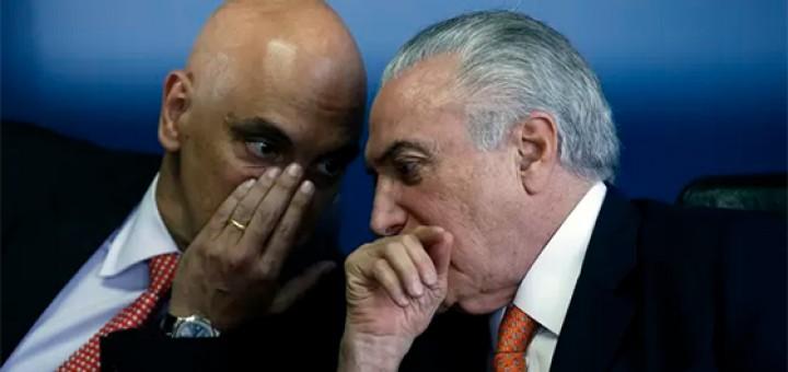 Temer e Alexandre Moraes