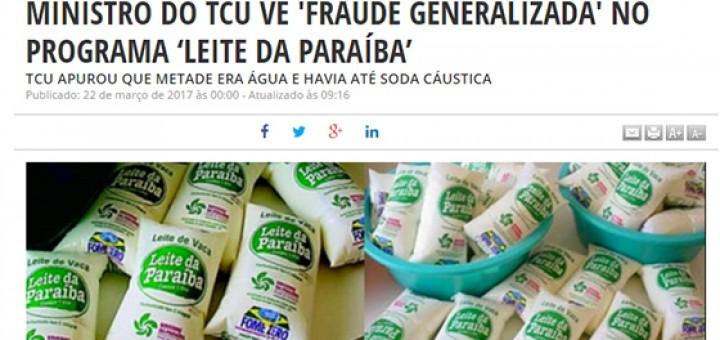 TCU fraude em programa do leite Dário do Poder 22mar2017