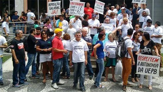 UEPB professores protesto