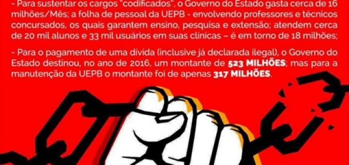 UEPB não cabe no orçamento do Estado