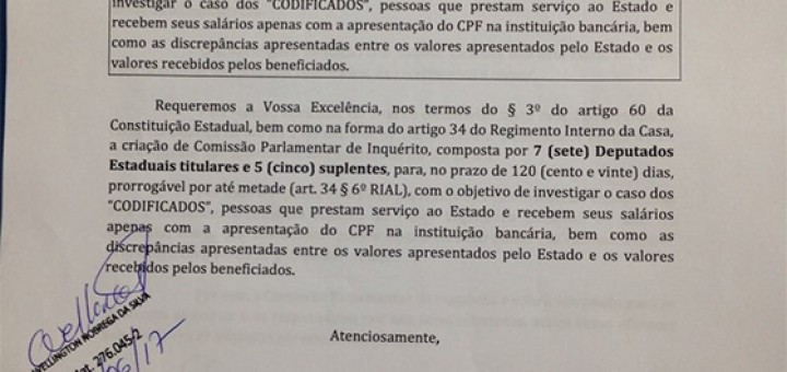 Codificados pedido de CPI