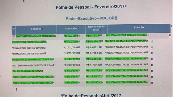 PM salário de major abr2017
