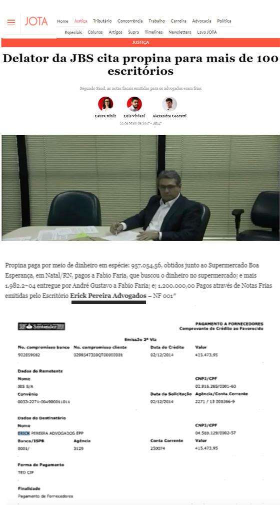 Caso Erick Advogados denuncia de Saud