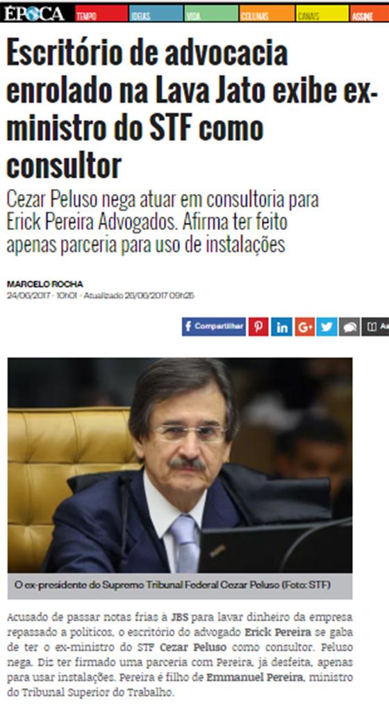 Caso Erick Advogados revista Época