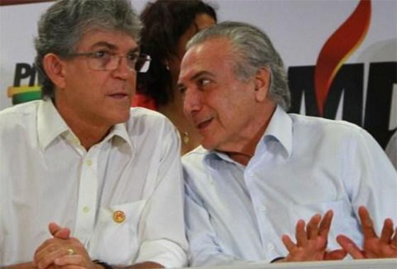 Temer e Ricardo Coutinho