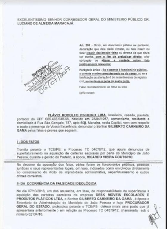 Caso Rodolfo versus Gilberto falsidade 01