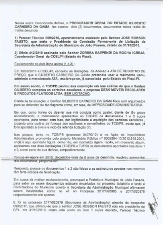 Caso Rodolfo versus Gilberto falsidade 02
