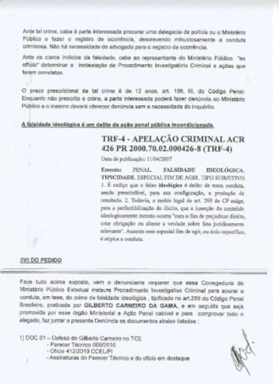 Caso Rodolfo versus Gilberto falsidade 03