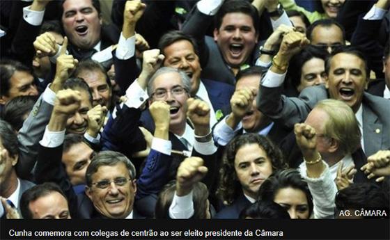Centrão na eleição de Cunha