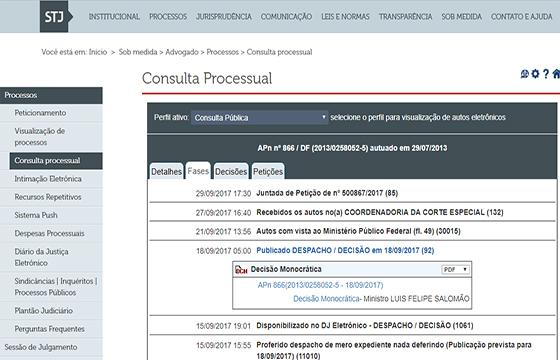 STJ denuncia ação penal contra RC 14set2017