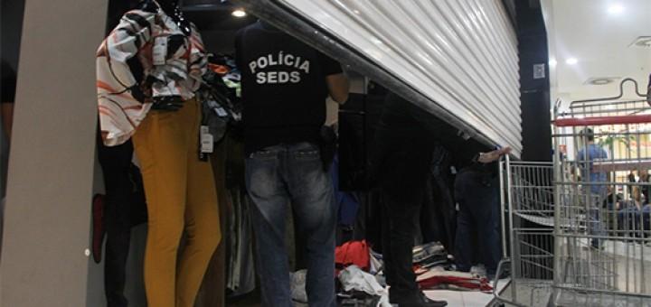 Violência arrombamento de lojas em CG
