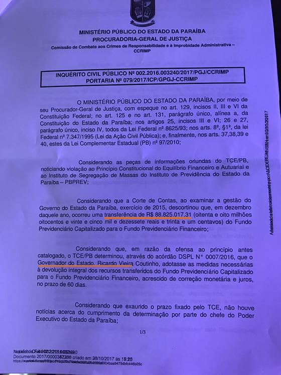 Pedaladas MP instaura inquérito01