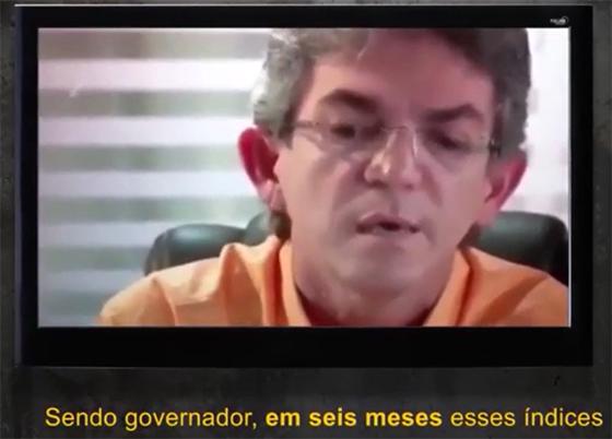 Video Ricardo Coutinho promete acabar com a violência em 6 meses