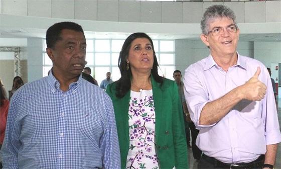 Damião, Lígia e Ricardo Coutinho