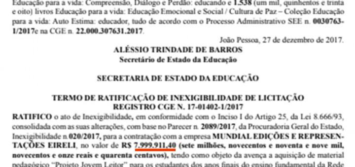Governo compra 30 milhões sem licitaçao dez2017