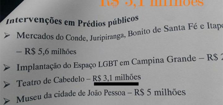 Teatro Santa Catarina custo Ricardo