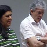 Ligia e Ricardo Coutinho de braços cruzados