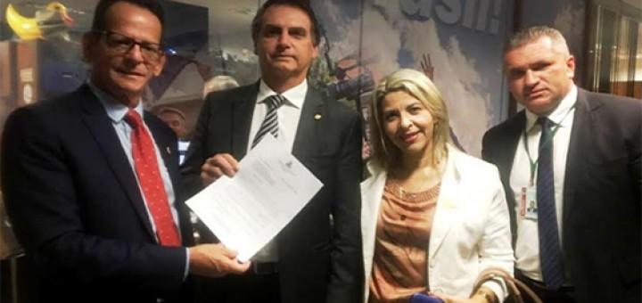 Marcos Vinicius, Eliza e Bolsonaro
