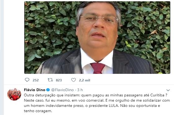 Governador Flavio Dino sobre viagem a Curitiba