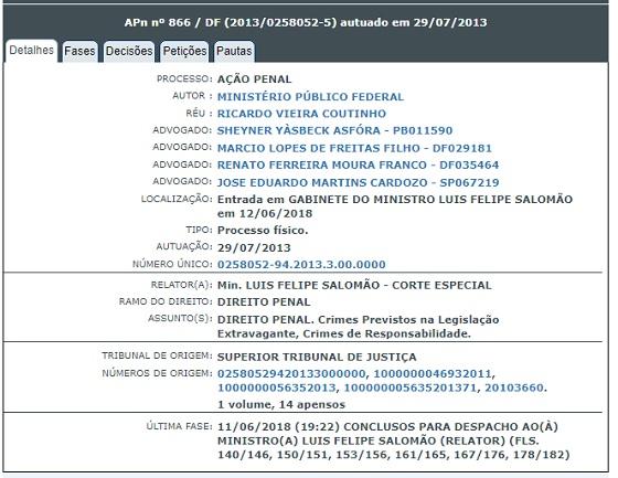 Ação Penal 866 em 14jun2018